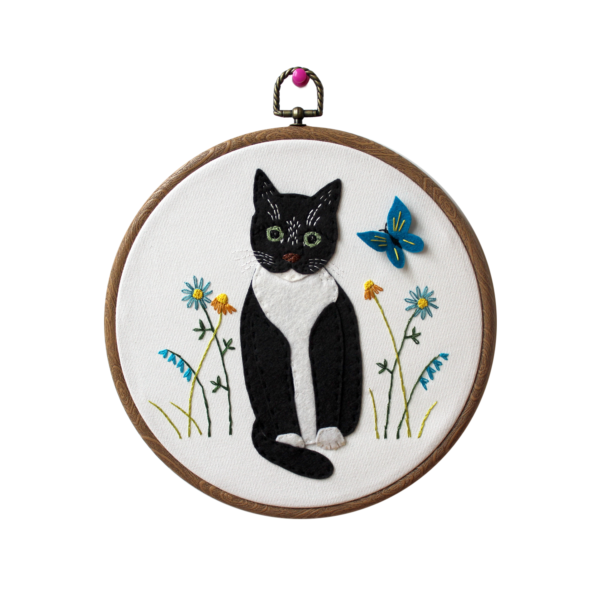 felt cat portrait