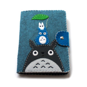 blue totoro kindle cover