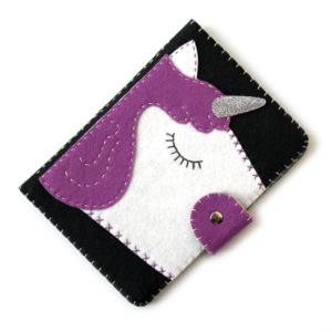 Purple Unicorn Kindle cover