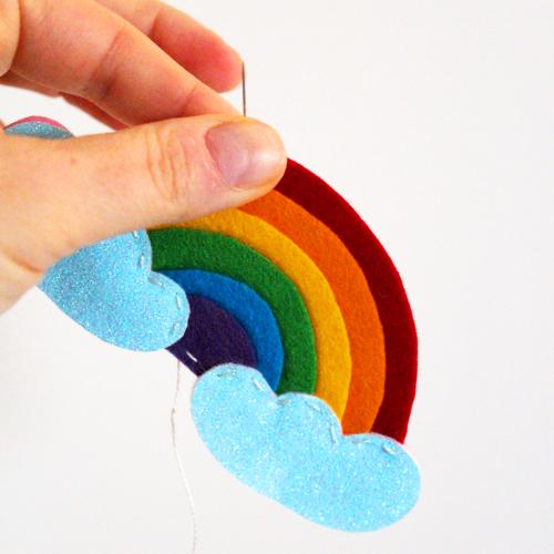 rainbow fridge magnet